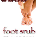 FREE Foot Scrub Promotion