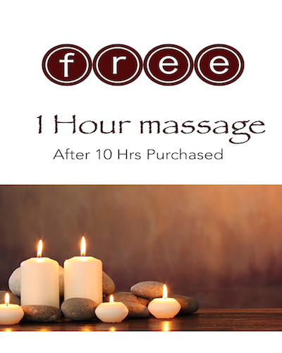 FREE One Hour Massage Promotion